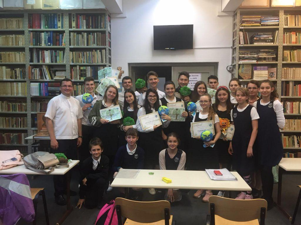 colectare selectiva in scoala, colegiul romano-catolic sf iosif, patrula de reciclare, deseuri reciclabile