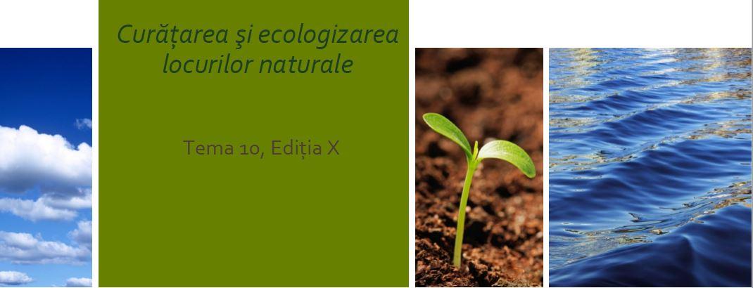 Curatarea si ecologizarea locurilor poluate de deșeuri